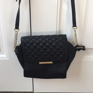 Cute black quilted crossbody